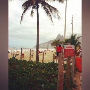 Morning workout along Ipanema beach